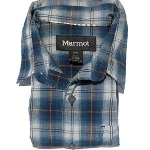 Marmot Mens M Long Sleeve Button Up Shirt EUC